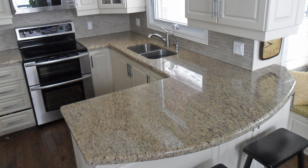 ... Giallo Ornamental Granite   Waterfall Edge Profile ...
