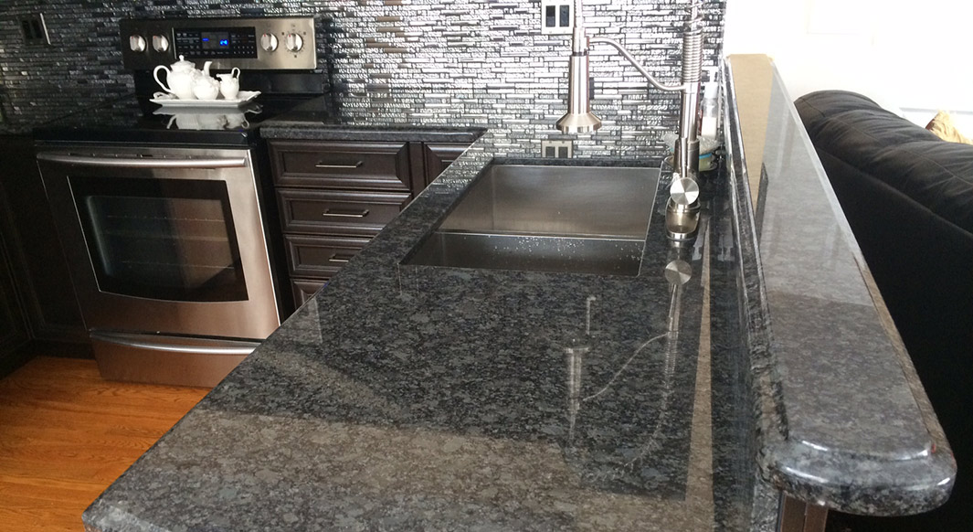 Steel Grey Granite Ogee Edge Profile Northern Marble